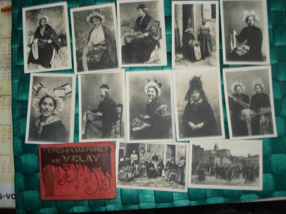 ALBUM 12 PHOTOS ANCIENS TYPES ET COSTUMES DU VELAY 40 Fontenay-le-Fleury (78)