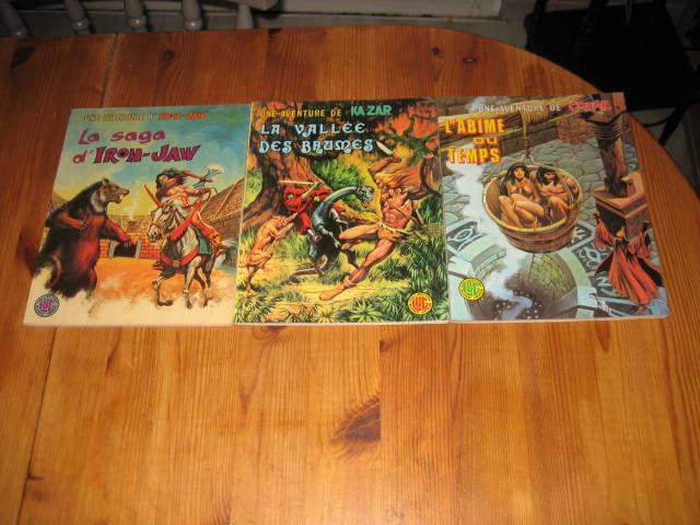 lot 3 albums LUG une aventures de CONAN KA-ZAR IRON JAW 1976/77 50 Cézy (89)