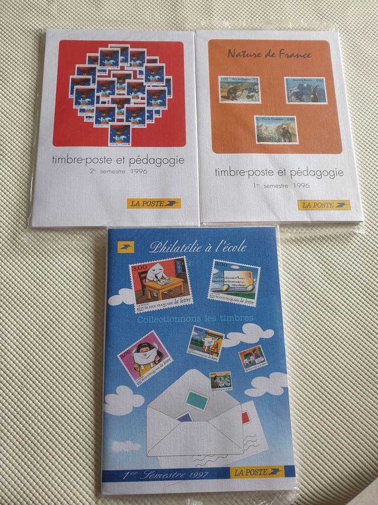 Lot de 3 albums timbres pédagogie 45 Bordeaux (33)
