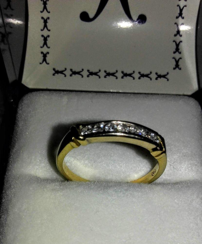 Alliance /Bague , 290€ Or Jaune 18 cts. 7 Diamants.Facture 290 Quimperlé (29)