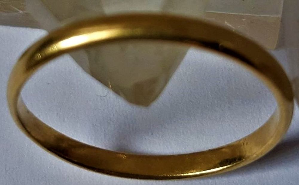 Alliance demi jonc, anneau, or plein jaune 18 carats, 2g02 290 La Seyne-sur-Mer (83)