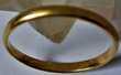 Alliance demi jonc, anneau, or plein jaune 18 carats, 2g02