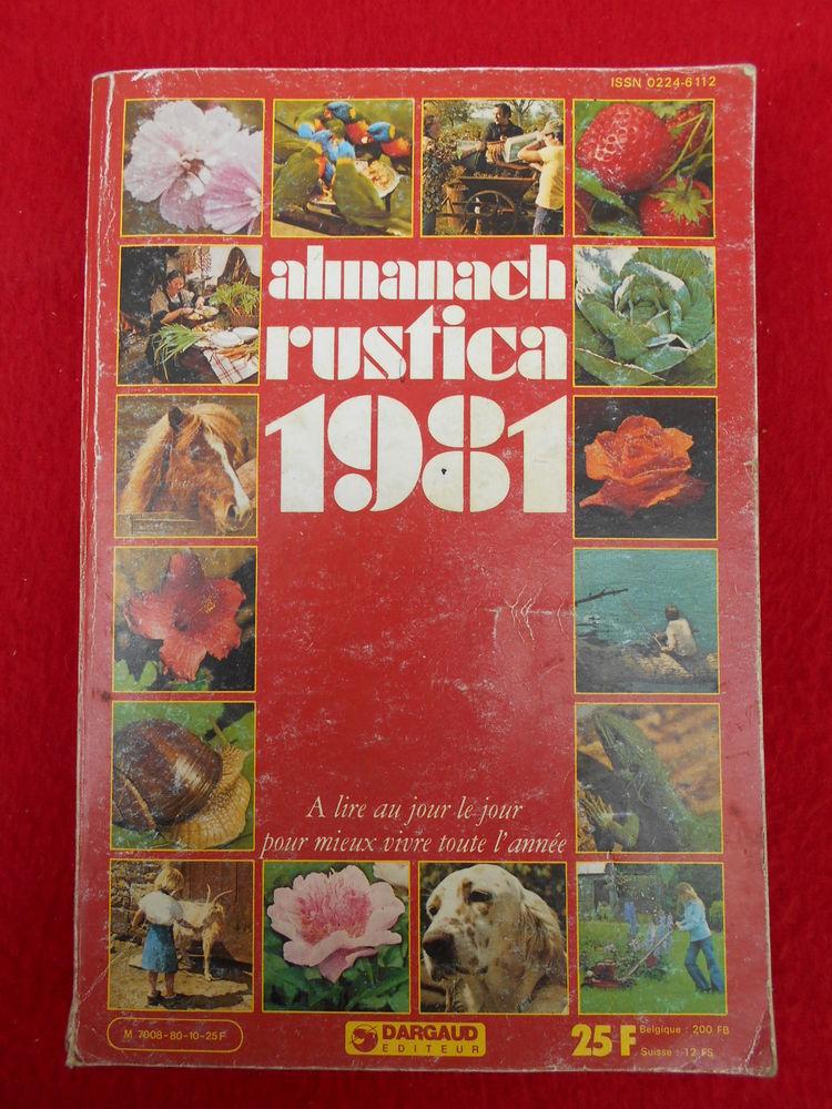 ALMANACH RUSTICA 1981 Livres et BD