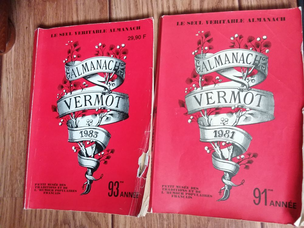 lot de 2 Almanach Vermot Livres et BD