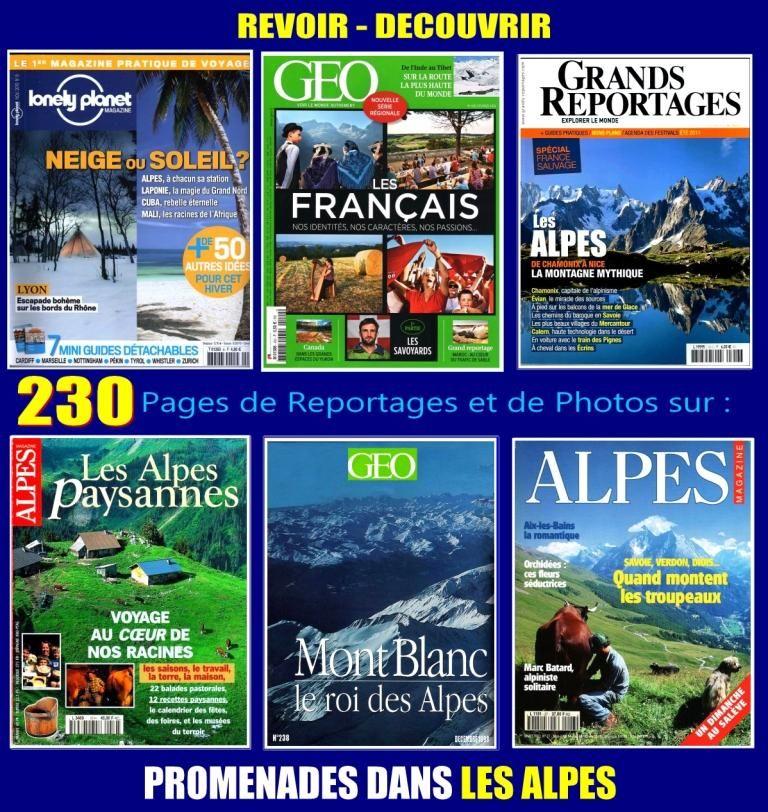LES ALPES - géo - PROMENADE / prixportcompris 18 Bordeaux (33)