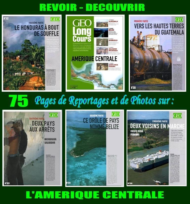 AMÉRIQUE CENTRALE - géo - 5 revues 17 Lille (59)