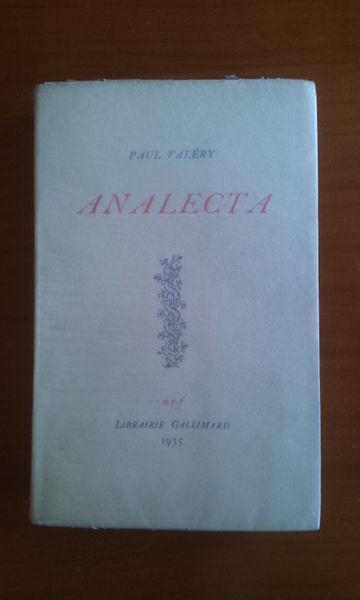 Analecta. P. Valéry. Gallimard NRF. Numéroté. 1935 Livres et BD