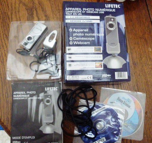 ancien Appareil photonumérique camescope webcam LIFETEC  4 Ay (51)