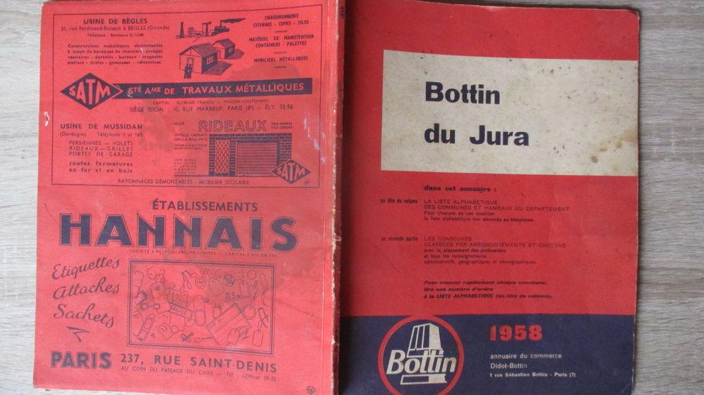 Ancien BOTTIN du JURA de 1958. 20 Le Vernois (39)