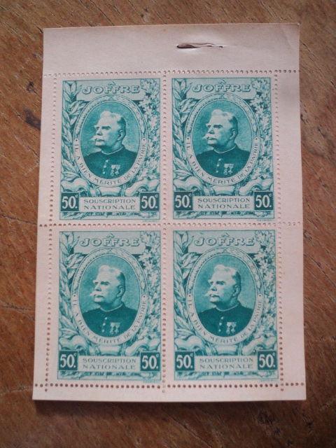 Ancien Carnet 16 Timbres Vignette A JOFFRE 50C TBE 12 Loches (37)