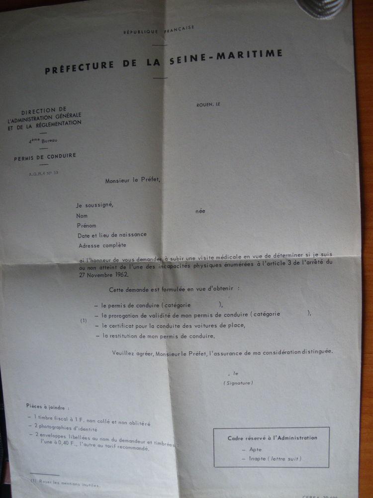 Ancien CERFA 20.690 PERMIS DE CONDUIRE