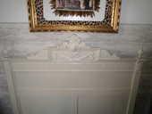LIT ANCIEN EN CHÂTAIGNIER REPEINT BLANC IVOIRE UNIQUE 199 Nîmes (30)