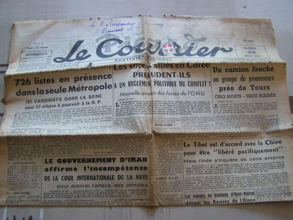 ancien courrier LE JOURNAL 4 Amiens (80)