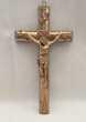 ANCIEN CRUCIFIX CROIX PORTE CHRIST EN PLÂTRE STAFF STUC OR 39 Marseille 11 (13)