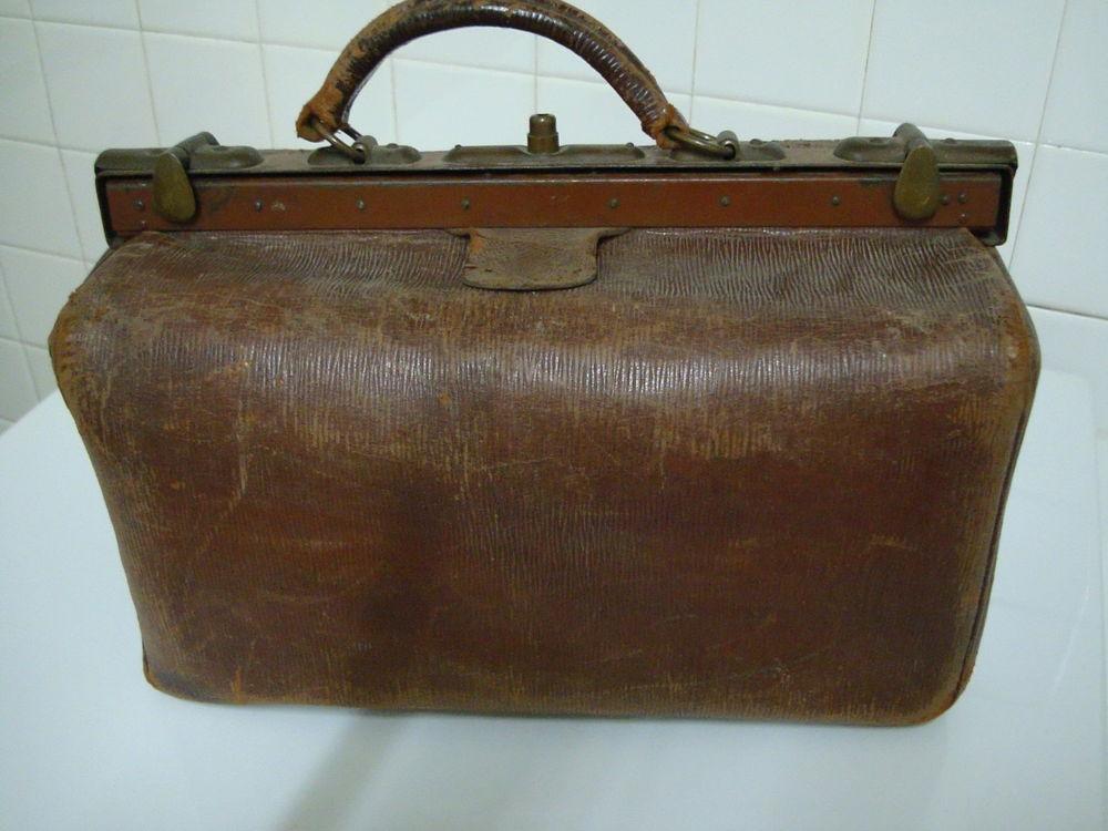 Sac ancien en cuir de médecin ,objet ancien ,sac a main .. 23 Is-sur-Tille (21)