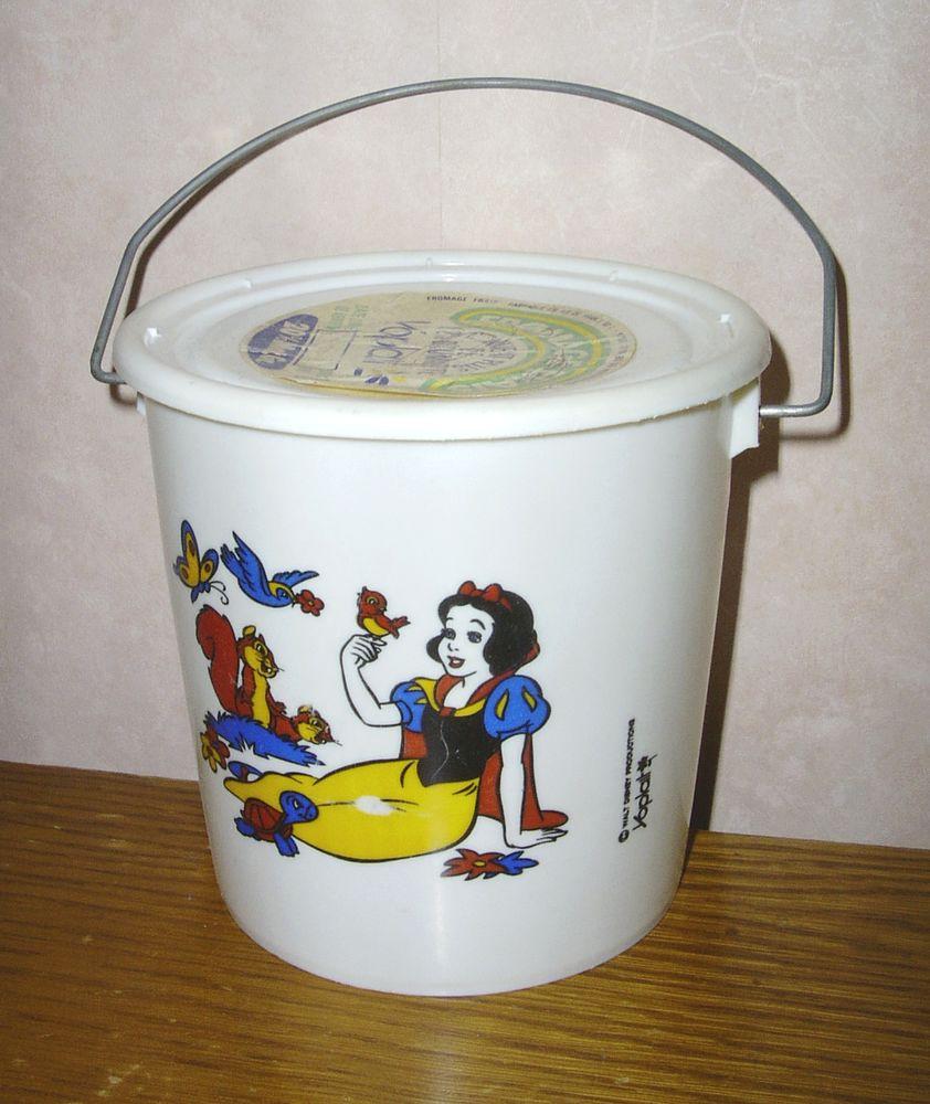 Ancien pot fromage yoplait -blanche neige-Walt Disney Prod.  10 Creil (60)