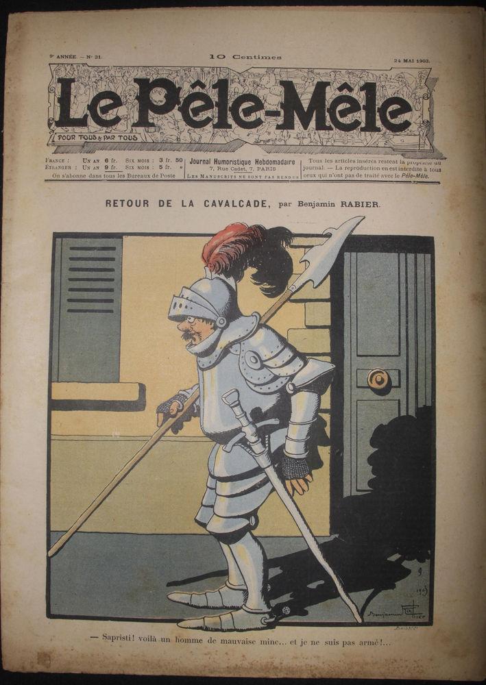 Ancien journal PELE MELE 1903 et 1904 0 Châtillon-le-Duc (25)