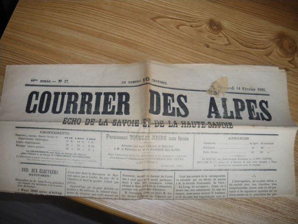 ancien journal 1 Saint-Jean-de-Maurienne (73)