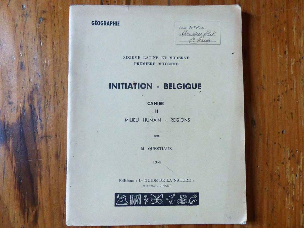 Ancien manuel de géographie 1954 8 Strasbourg (67)
