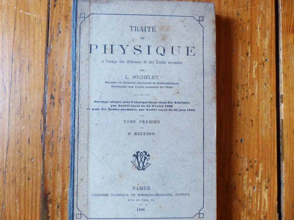 Ancien manuel scolaire de physique 1886 35 Strasbourg (67)