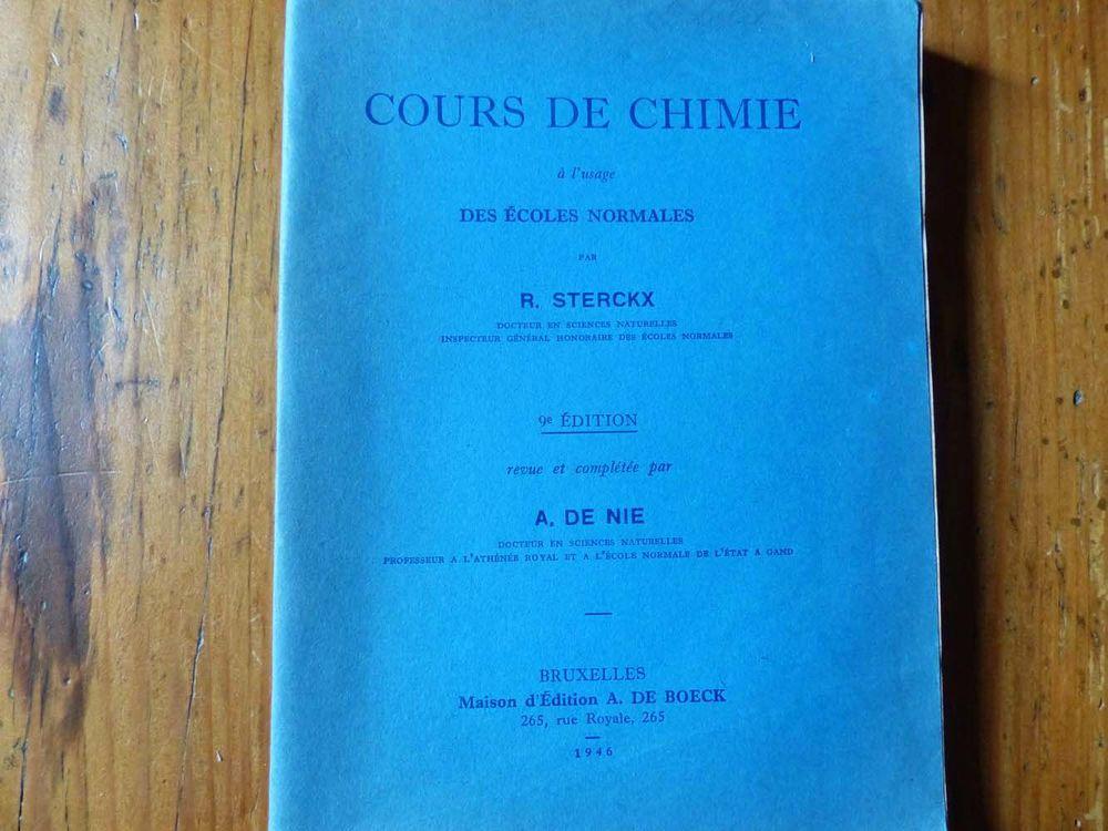 Ancien manuel scolaire de chimie 1946 15 Strasbourg (67)