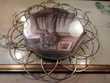 Ancien Miroir Mural Fleur Soleil Laiton Vintage Décoration