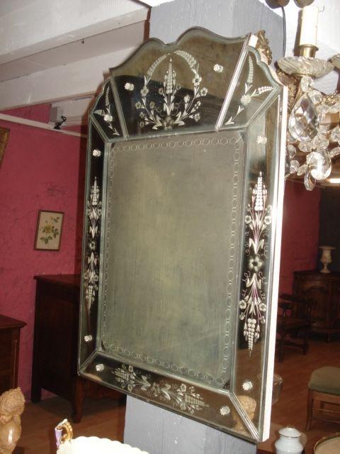 ancien miroir vénitien   120 Lamothe-Landerron (33)