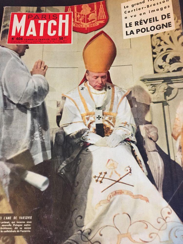 Ancien PARIS MAtch : le cardinal WYSZYNSKI à la une 1 Soissons (02)