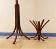 ANCIEN PORTE MANTEAUX VINTAGE BOIS COURBE THONET FISCHEL Art Décoration