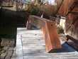 Ancien Poutre en bois pour bandeau de cheminée ou barbecue Aix-les-Bains (73)