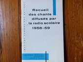 Ancien recueil de chants scolaires 1959 15 Strasbourg (67)