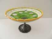 ANCIEN SALADIER CORBEILLE FRUITS CERAMIQUE PIED REGULE ART o 59 Marseille 11 (13)