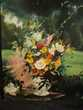 Ancien Tableau Bouquet de Fleurs Signé Loches (37)