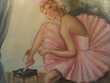 Ancien Tableau Danseuse Ballerine Signé Milieu XXème. Décoration