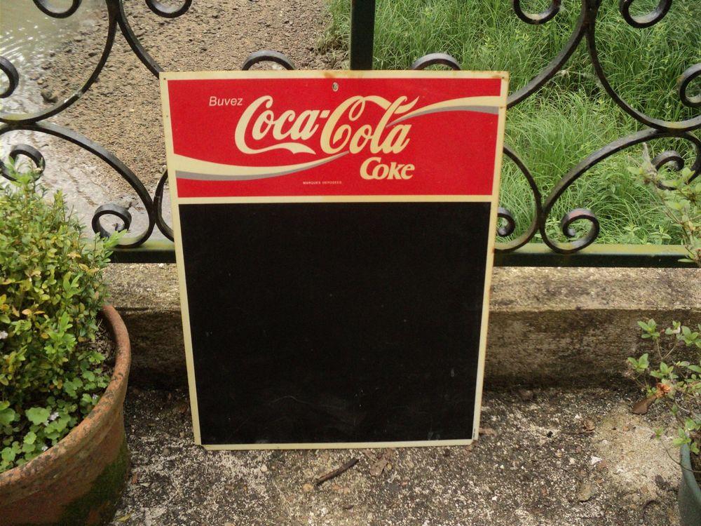 Ancien Tableau Noir Coca-Cola Publicité Vintage. 10 Loches (37)