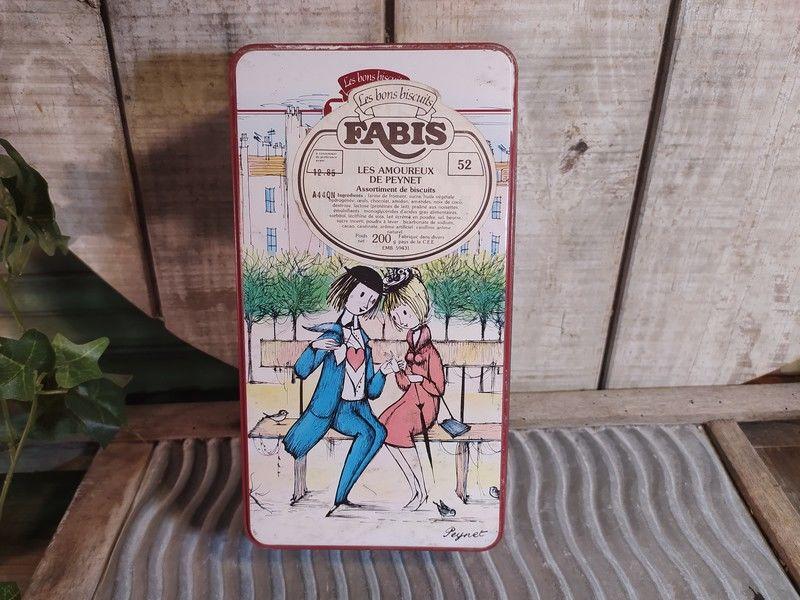 Ancienne Boite Biscuits Tôle Les Amoureux de Peynet 35 Loches (37)