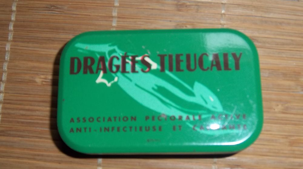 Ancienne boite dragees tieucaly medicament 6 Colombier-Fontaine (25)