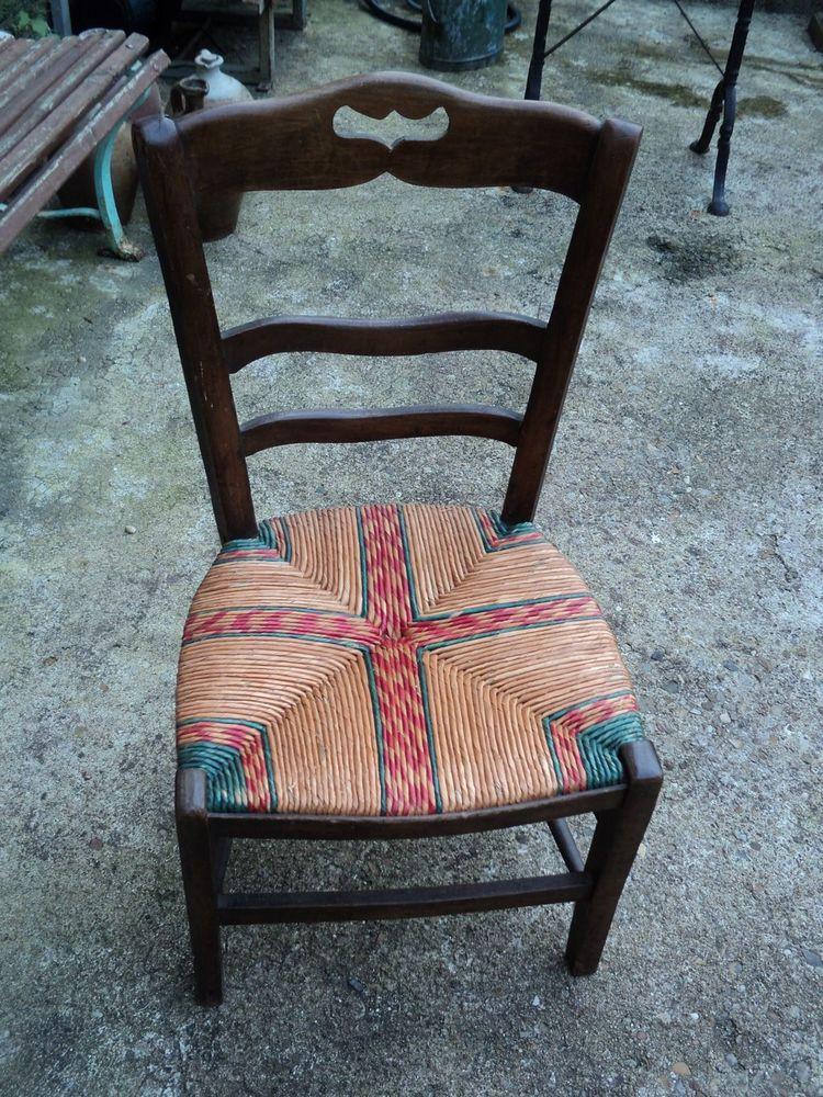 Ancienne chaise de Cheminée en paille  15 Loches (37)