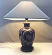 ANCIENNE ELEGANTE LAMPE VEILLEUSE LISEUSE MONOGRAMMEE tbe