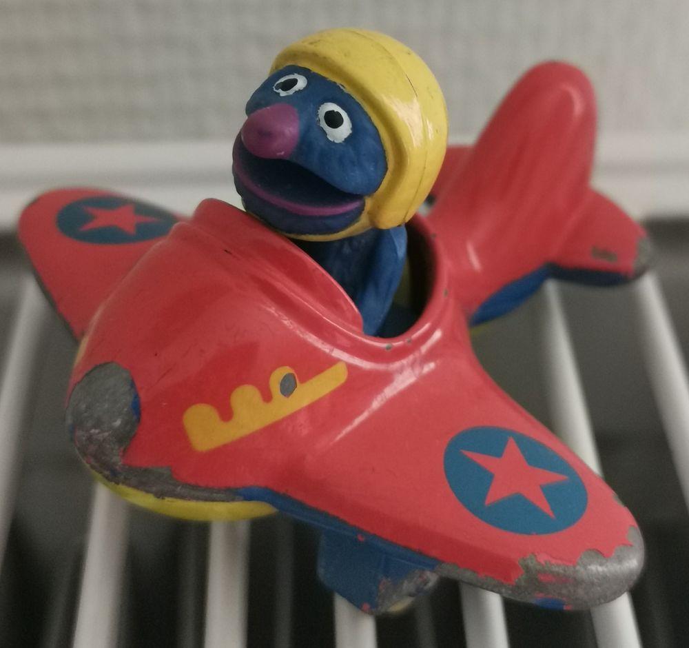 Ancienne figurine Sesame Street Grover 5 Berck (62)