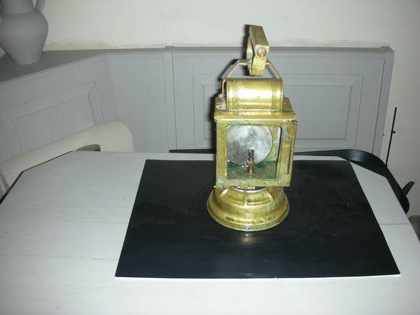 ancienne lampe de gare chemin de fer