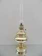 ANCIENNE LAMPE MASSIVE PETROLE LAITON/BRONZE DORE RETRO tbe Décoration