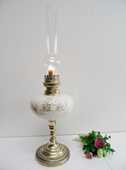 ANCIENNE LAMPE A PETROLE BRONZE PORCELAINE ART DECO retro 79 Marseille 11 (13)