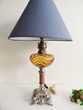 ANCIENNE LAMPE PETROLE ELECTRISES REGULE MARBRE Artdéco...