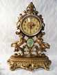 ANCIENNE PENDULE HORLOGE VINTAGE ROCAILLE EMES PUTTI OR tbe Marseille 11 (13)