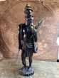 Ancienne Sculpture Guerrier Africain ou Malgache 80 Loches (37)