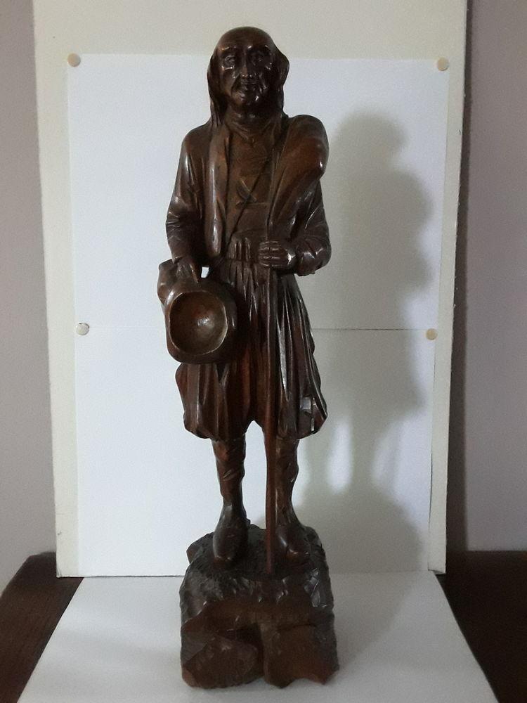 Ancienne statue Bretonne, sculpture bois 130 Joinville-le-Pont (94)
