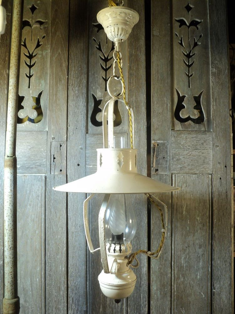 Ancienne Suspension Lanterne Style Campagne Far West. 40 Loches (37)