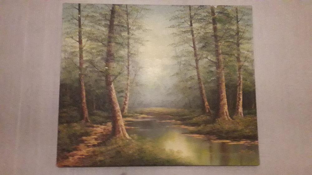 Ancienne toile/huile peinte P. CANTRELL 1950. 35 Flers-en-Escrebieux (59)