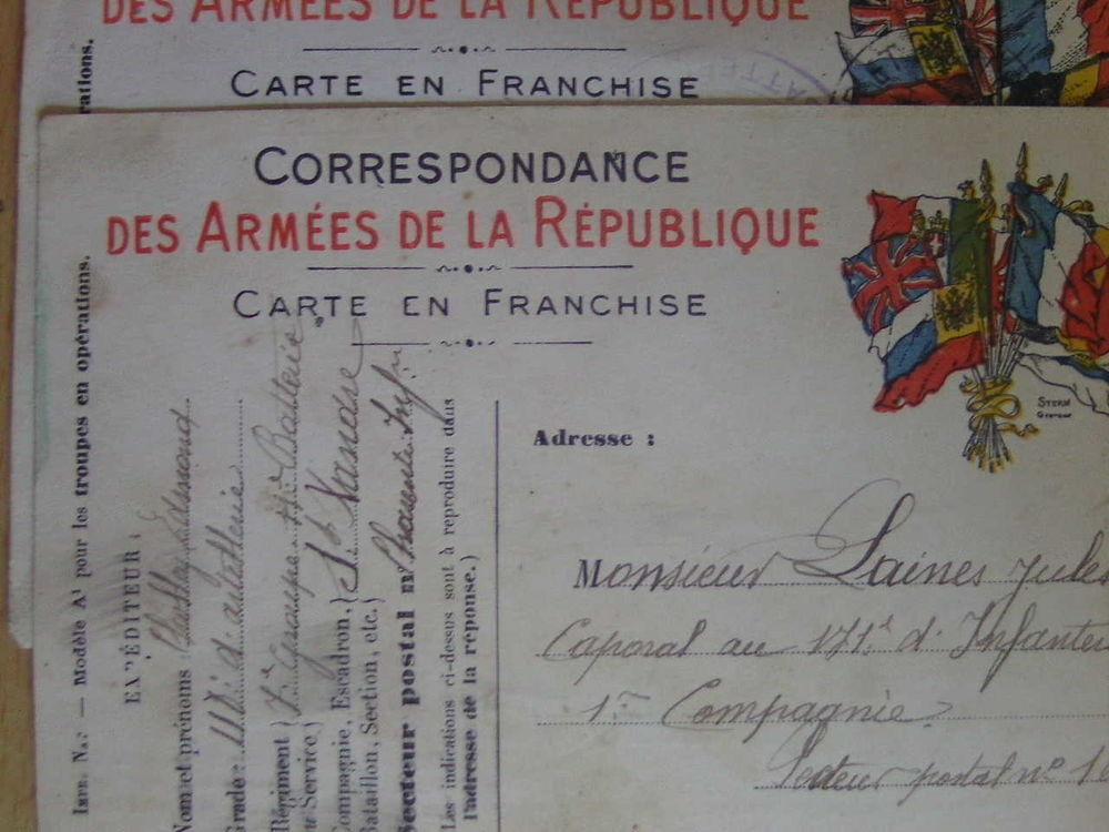 anciennes cartes de correspondances militaires  100 Froideconche (70)
